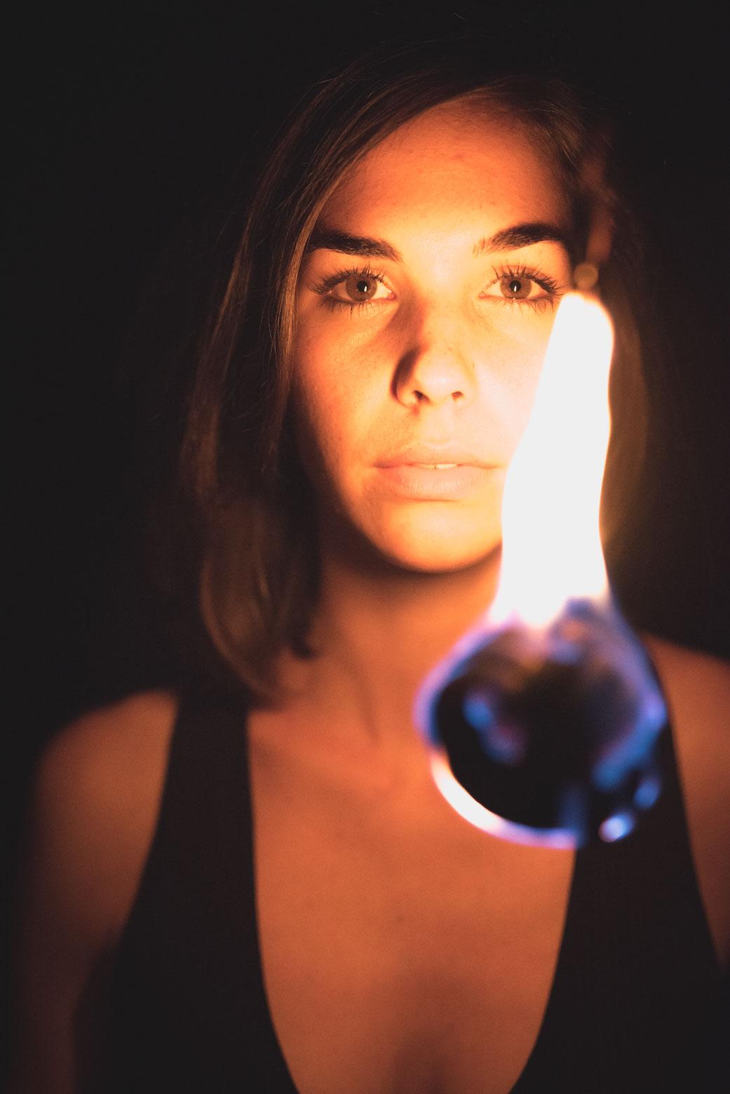 Fotoshooting mit Flammenmaler Daniel und Laura