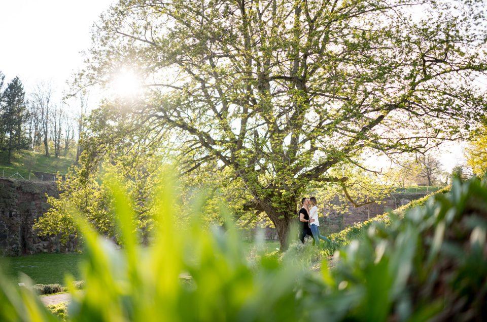 Hochzeitsfotograf unterwegs mit Nadine und Mattes in Stuttgart